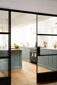 Sliding Door Kitchen Cabinet The Beautiful New Trinity Blue Kitchen By Devol Creative