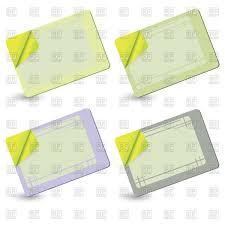 blank simple business card templates vector image 16415 u2013 rfclipart