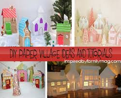 Christmas Home Decor Crafts Diy Christmas Village Craft From Paper Bags Inspired By Family