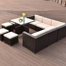 unique coffee tables 10 pcs outdoor rattan wicker furniture set with a unique coffee