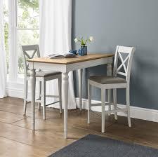 Oak Bar Table Hstead Soft Grey Pale Oak Bar Table 2 X Back Bar Stools