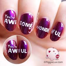 piggieluv secret valentine u0027s day message nail art