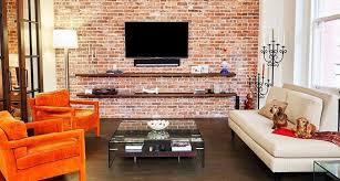 exposed brick fantastic retro living room design with exposed brick wall decomg