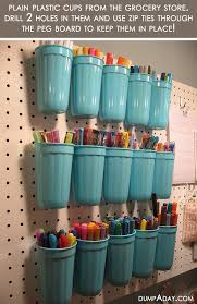 amazing easy diy home decor ideas plastic cup organizer crafts