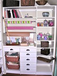 nice looking multipurpose closet organizers idea with white wooden