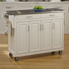 stainless top kitchen island square chocolate mahogany wood stainless steel top