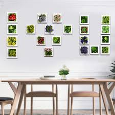home decor artificial plants creative 3d metope artificial plants frame for wall decor fake