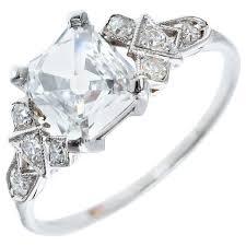 engagement rings square images Antique square cut diamond platinum engagement ring at 1stdibs jpeg