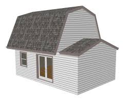 gambrel 16 x 20 shed plan pole barn plans