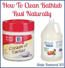 How To Unclog A Bathtub Naturally Removing Rust Stains From Bathtub Natural Home Remedies Clean