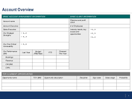 key account template flevy account management templates