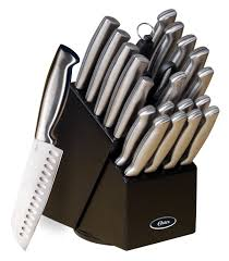 oster 70562 22 baldwyn 22 piece cutlery block set brushed satin