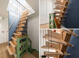 Narrow Stairs Design 13 Stair Design Ideas For Small Spaces Contemporist