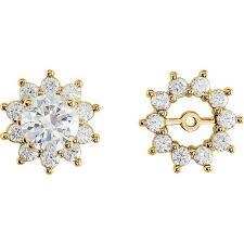 earring jackets 14k gold diamond earring jackets moijey jewelry and diamonds