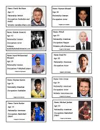 biography of famous persons pdf 257 free celebrities biographies worksheets