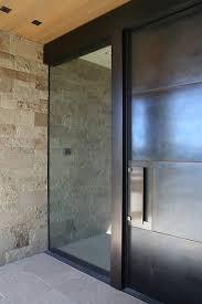 glass entry door glass and steel front door design ideas front door porch front