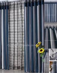 Striped Living Room Curtains by Choice Blue Chenille Fabric Striped Living Room Door Curtains