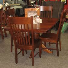 innsbruck dining table and vienna chair set amish oak