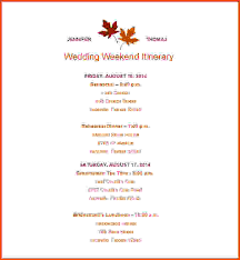 wedding itinerary template for guests wedding itinerary template wedding itinerary template free