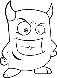 monsters coloring pages for kids 2016 devil horns coloring pages