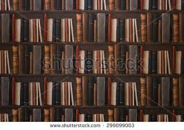 Bookcase Wall 2of15 Old Books Seamless Texture Vertically Stock Illustration