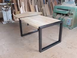bureau bois acier articles similaires à bureau bois et métal sur mesure table de