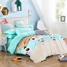 Teal Duvet Cover Panda Bedding U0026 Blankets Panda Things