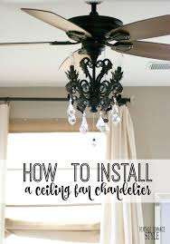 How To Refurbish A Chandelier Tired Of The Boring Ceiling Fan Light Kits Buy A Sparkly Flush