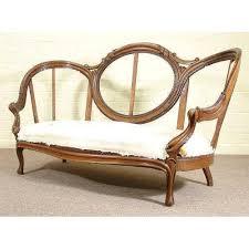 ANTIQUE VICTORIAN ROSE MAHOG CAMEO SOFA FRAME - Cameo sofa