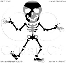 happy halloween clip art black and white clipart black and white happy skeleton royalty free vector