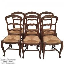 country chairs set of 6 antique country seat ladderback chairs