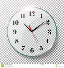 realistic wall clocks set vector illustration wall office clock