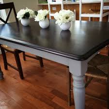 kitchen table how to paint a kitchen table black paint over