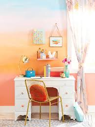 how to paint a sunset inspired wall treatment