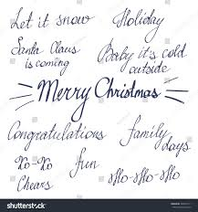 handwriting lettering happy new year merry stock vector 346916111