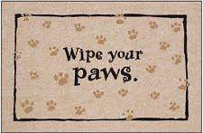 Wipe Your Paws Mat Decorative Wipe Your Paws Bear Ebay