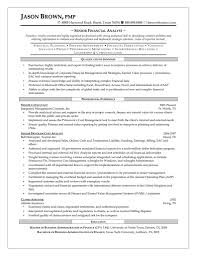 Resume Template Career Objective Cover Letter Senior Financial Analyst Resume Sample Financial