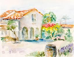 mediterranean mansion and vinary stock vector art 489110268 istock