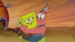 image patrick hugs spongebob jpg the parody wiki fandom