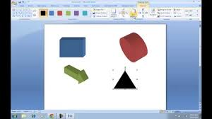 how to make 3d shapes in microsoft word youtube