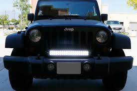 jeep wrangler front grill install ijdmtoy jeep wrangler front grill led light bar 7 steps