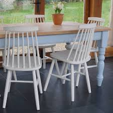 chilmark table with 1960 u0027s style chairs hand painted by rectory