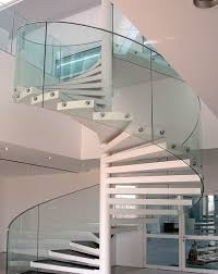 Spiral Stair Handrail Glass Spiral Stair Saragrilloinvestments Com