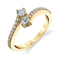 simple diamond rings husar s house of diamonds 14kt yellow gold simple two