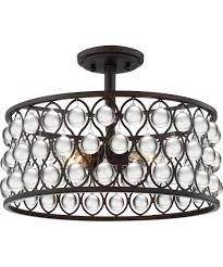 Quoizel Flush Mount Ceiling Light Quoizel Ax1716 Alexandria 16 Inch Wide Semi Flush Mount Capitol
