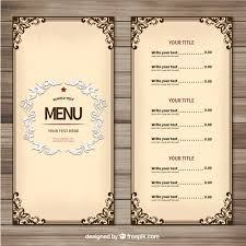 menu template vintage restaurant menu template restaurant menu
