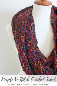 simple pattern crochet scarf simple v stitch crochet scarf free crochet pattern sigoni macaroni