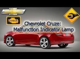 chevy cruze warning lights malfunction indicator l chevrolet cruze youtube