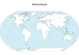continents on map continents map vector free vector stock