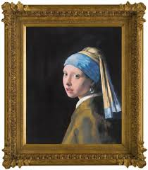 pearl earring painting girl with a pearl earring in the style of johan vermeer by